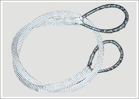 Eye and eyre Wire rope sling covered by nylon thread